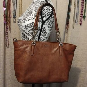 COACH Madison East West Shopper Tote Brown